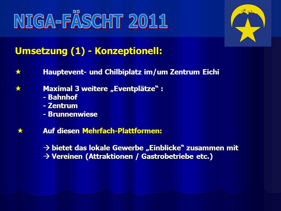 NIGA-FÄSCHT 2011 Umsetzung (1) - Konzeptionell: