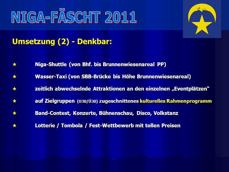 NIGA-FÄSCHT 2011 Umsetzung (2) - Denkbar: