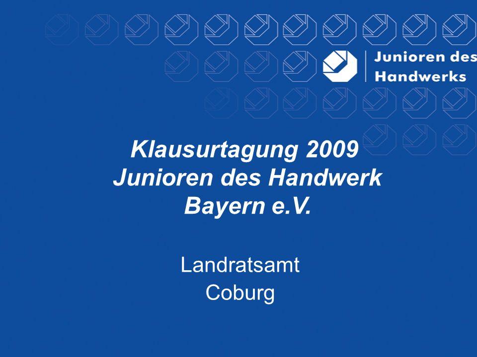 Klausurtagung 2009 Junioren des Handwerk Bayern e.V.