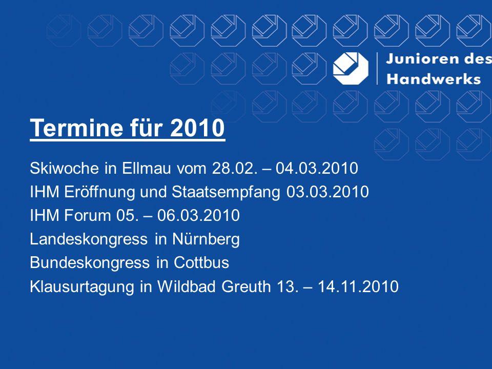 Termine für 2010 Skiwoche in Ellmau vom 28.02. – 04.03.2010