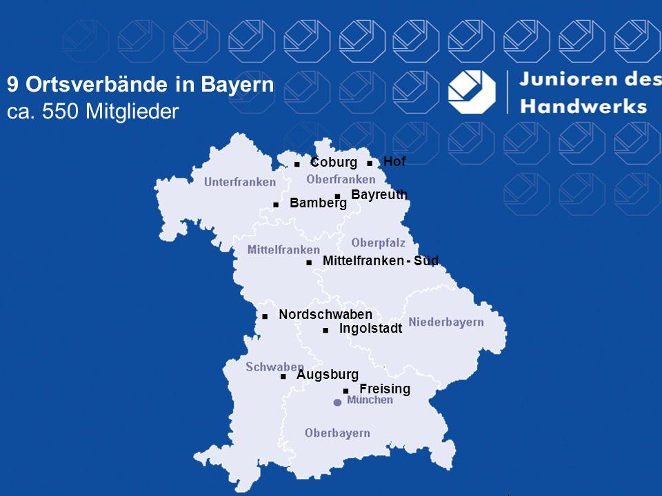 9 Ortsverbände in Bayern ca. 550 Mitglieder