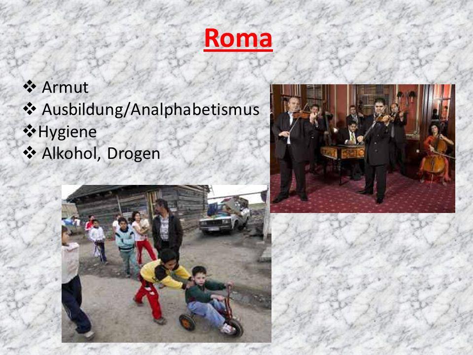 Roma Armut Ausbildung/Analphabetismus Hygiene Alkohol, Drogen