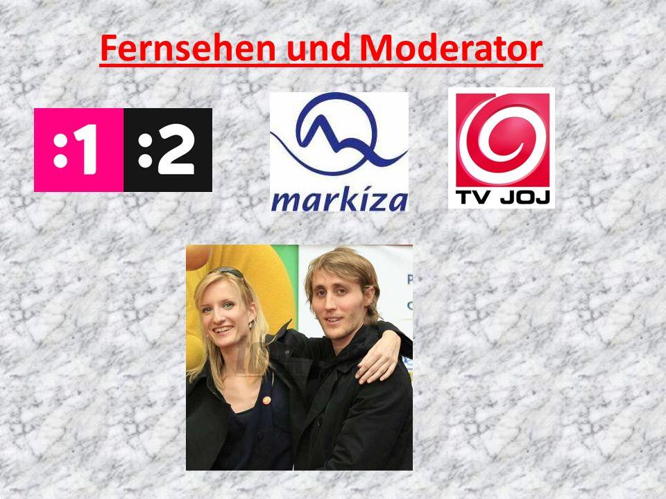 Fernsehen und Moderator
