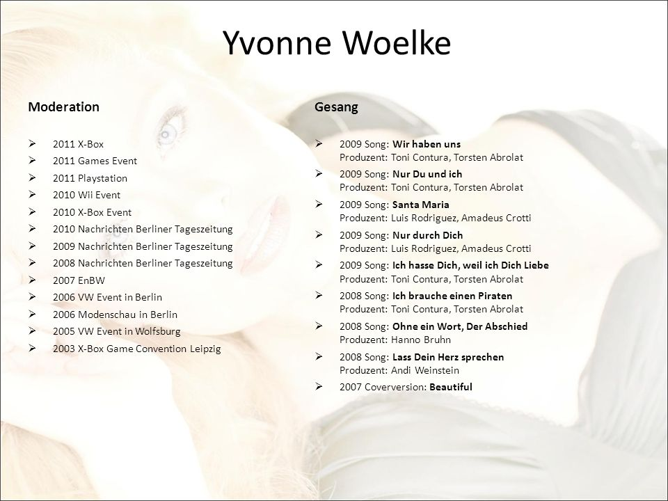 Yvonne Woelke Moderation Gesang 2011 X-Box 2011 Games Event