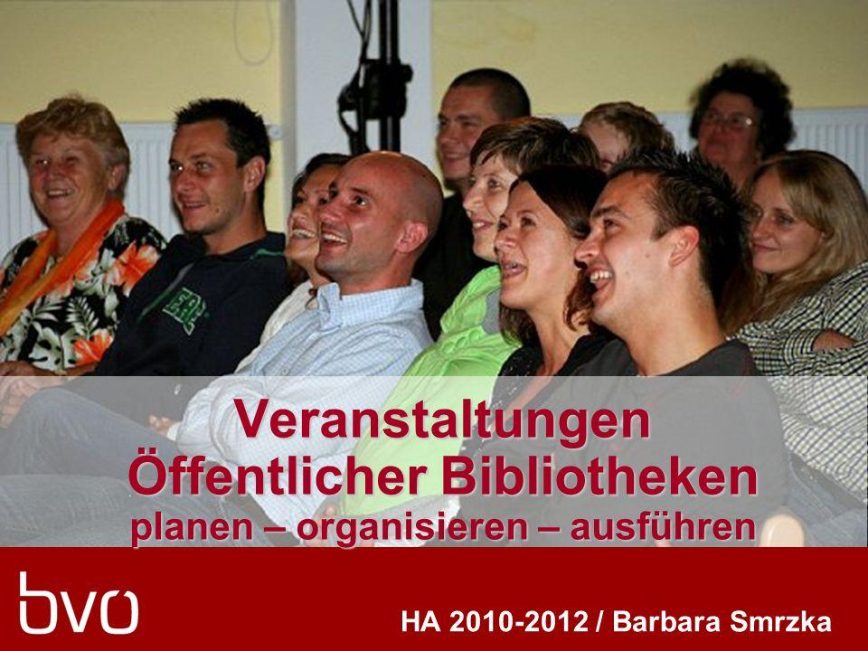Veranstaltungen Öffentlicher Bibliotheken planen – organisieren – ausführen