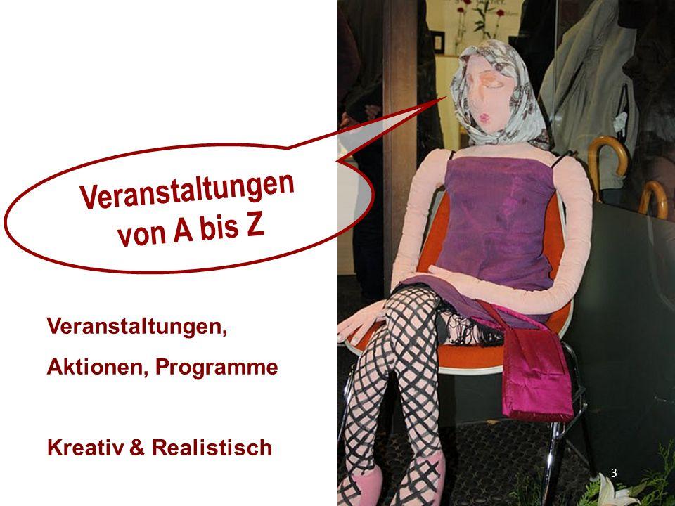 Veranstaltungen von A bis Z