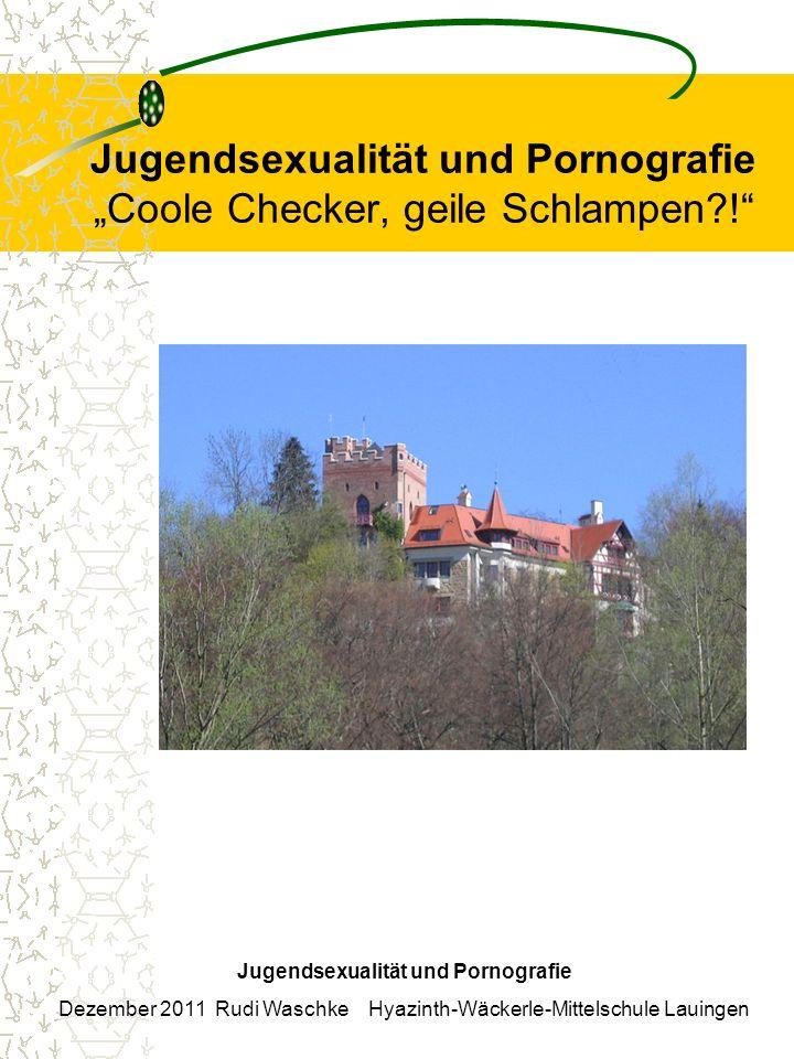 """Jugendsexualität und Pornografie """"Coole Checker, geile Schlampen !"""