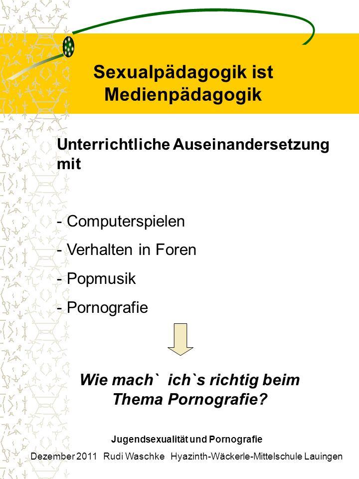Sexualpädagogik ist Medienpädagogik