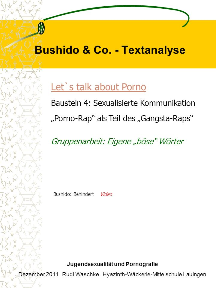 Bushido & Co. - Textanalyse