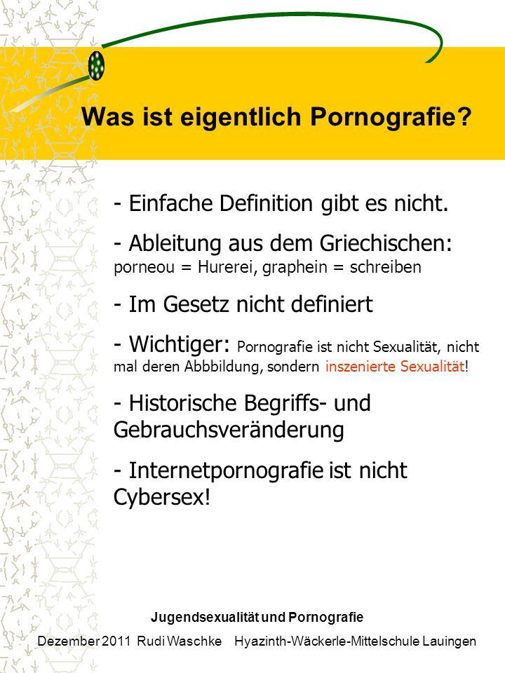 Was ist eigentlich Pornografie