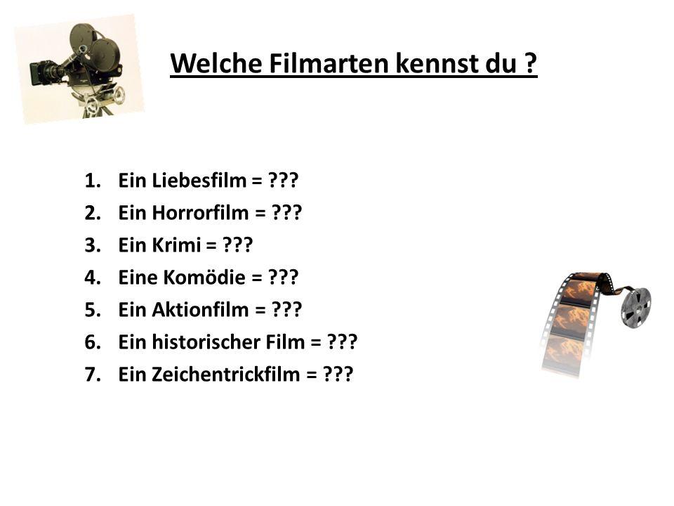 Welche Filmarten kennst du