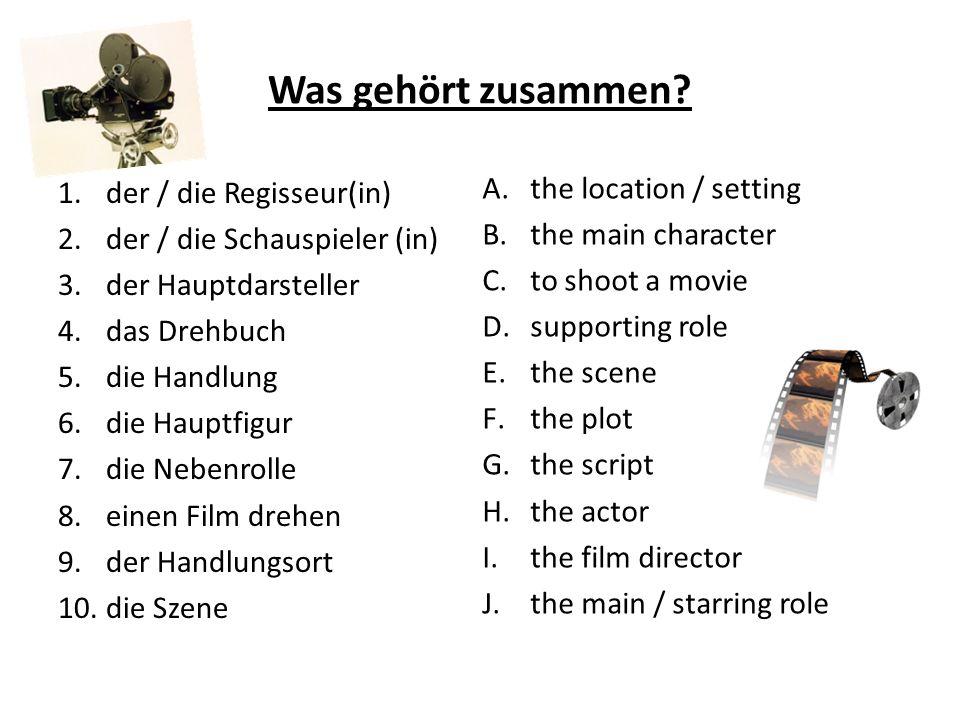 Was gehört zusammen the location / setting der / die Regisseur(in)