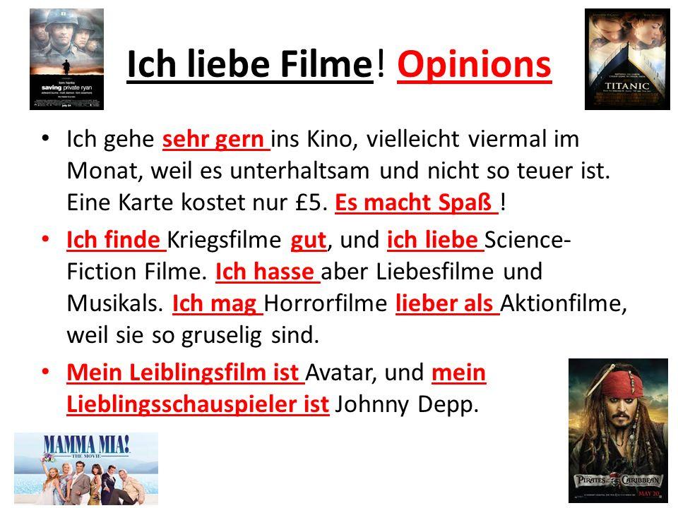 Ich liebe Filme! Opinions