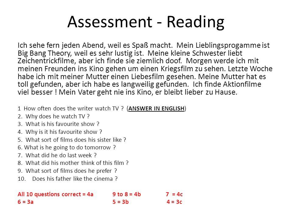 Assessment - Reading