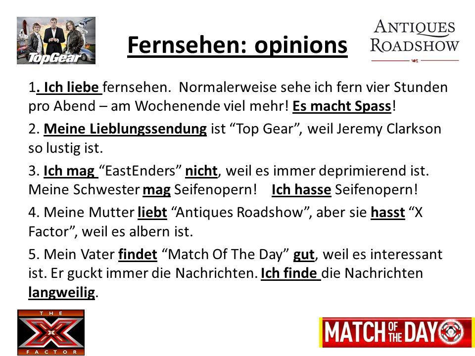 Fernsehen: opinions