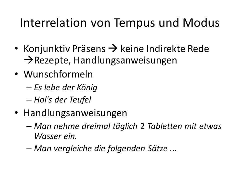 Interrelation von Tempus und Modus