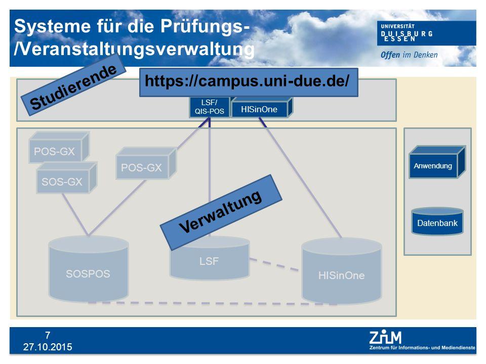 Systeme für die Prüfungs-/Veranstaltungsverwaltung