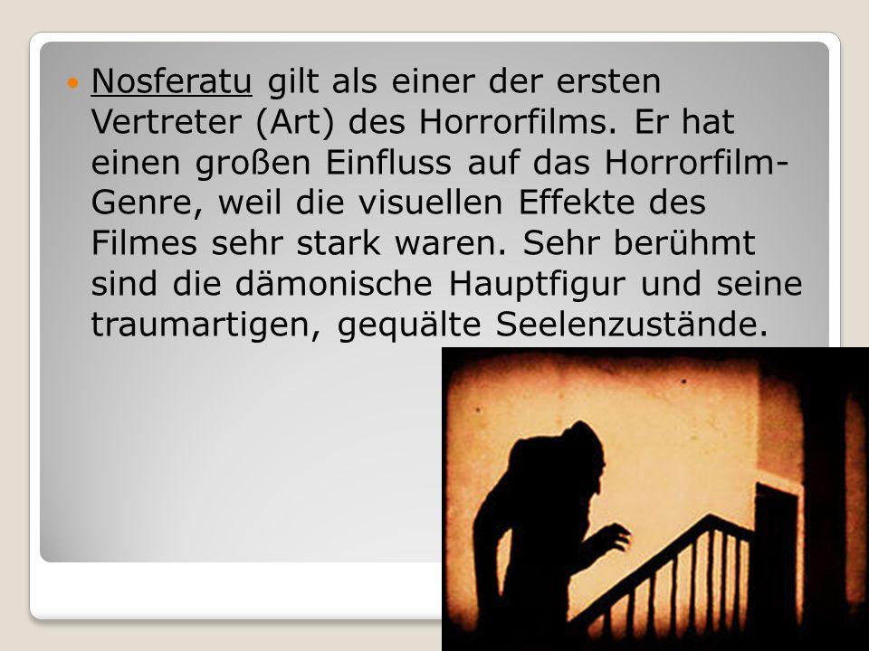 Nosferatu gilt als einer der ersten Vertreter (Art) des Horrorfilms