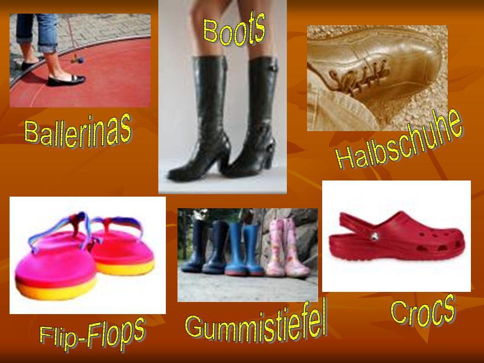 Boots Ballerinas Halbschuhe Crocs Gummistiefel Flip-Flops
