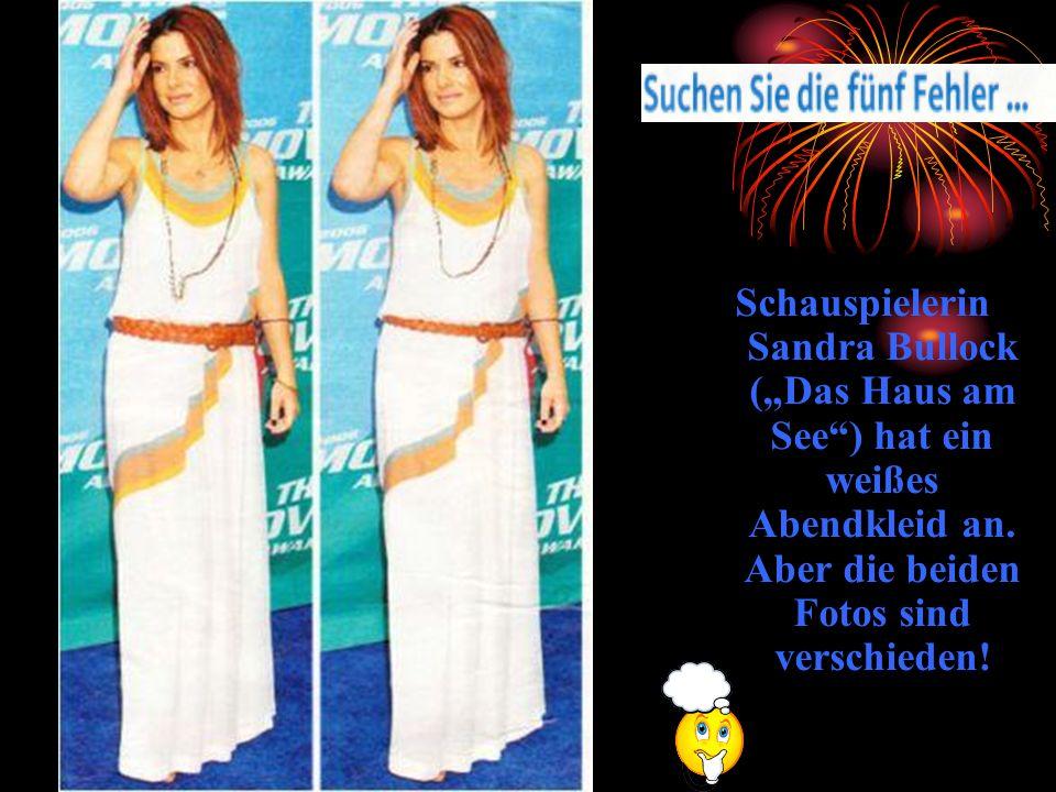 """Schauspielerin Sandra Bullock (""""Das Haus am See ) hat ein weißes Abendkleid an."""