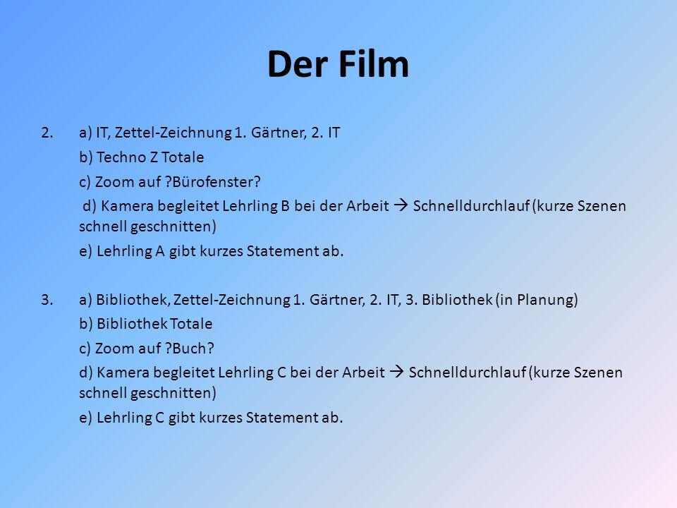 Der Film 2. a) IT, Zettel-Zeichnung 1. Gärtner, 2. IT