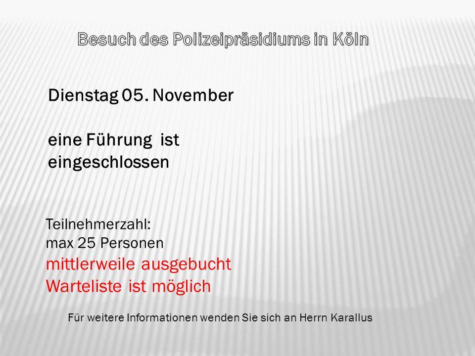 Besuch des Polizeipräsidiums in Köln