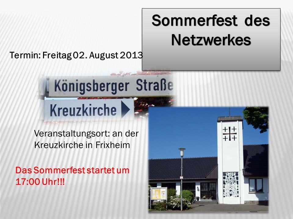 Sommerfest des Netzwerkes