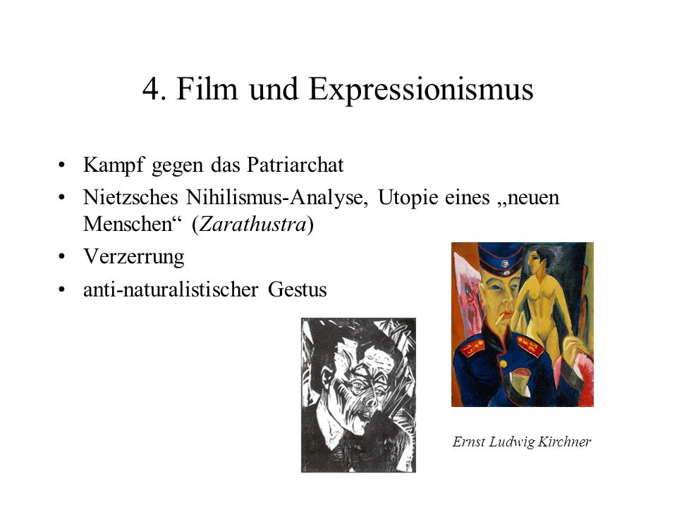 4. Film und Expressionismus