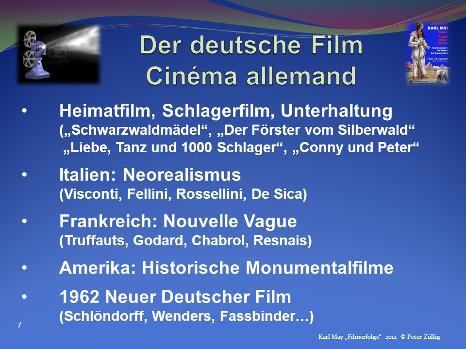 Der deutsche Film Cinéma allemand