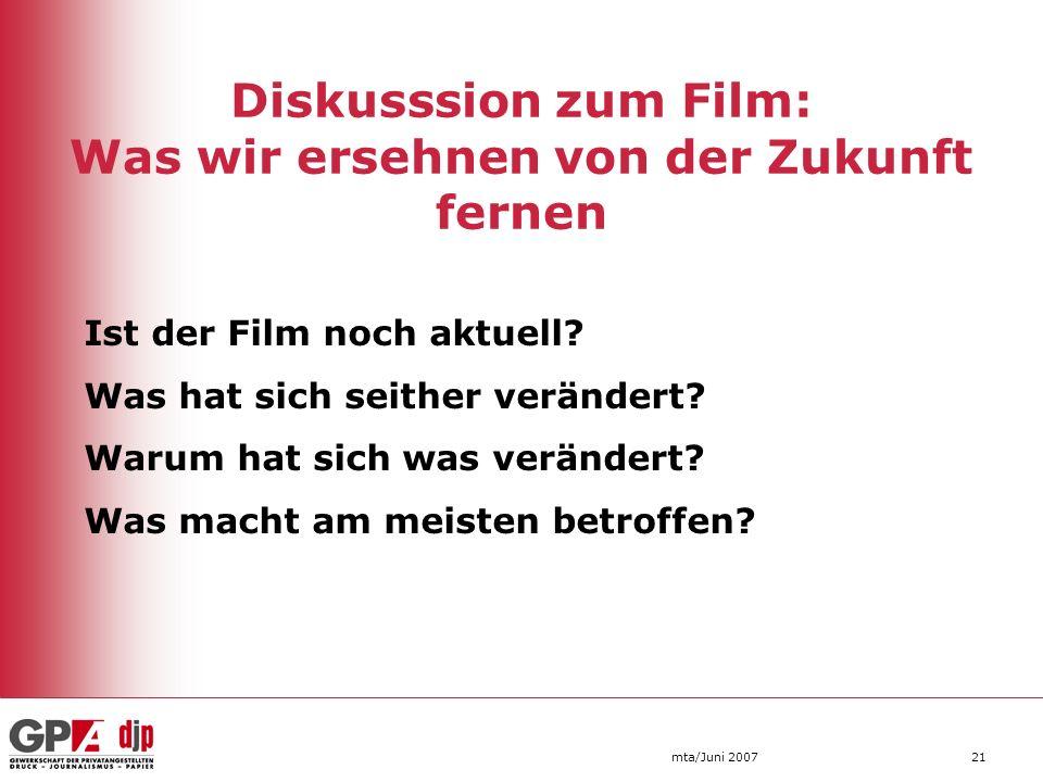 Diskusssion zum Film: Was wir ersehnen von der Zukunft fernen