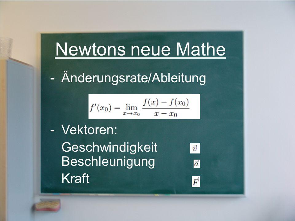 Newtons neue Mathe Änderungsrate/Ableitung Vektoren: