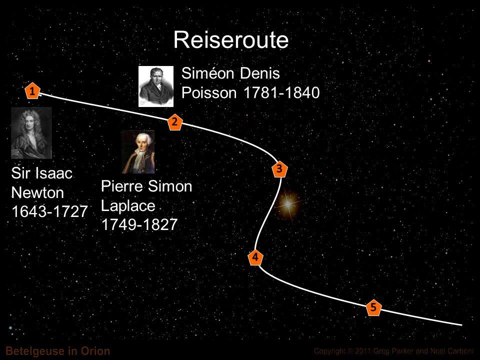 Reiseroute Siméon Denis Poisson 1781-1840 Sir Isaac Newton