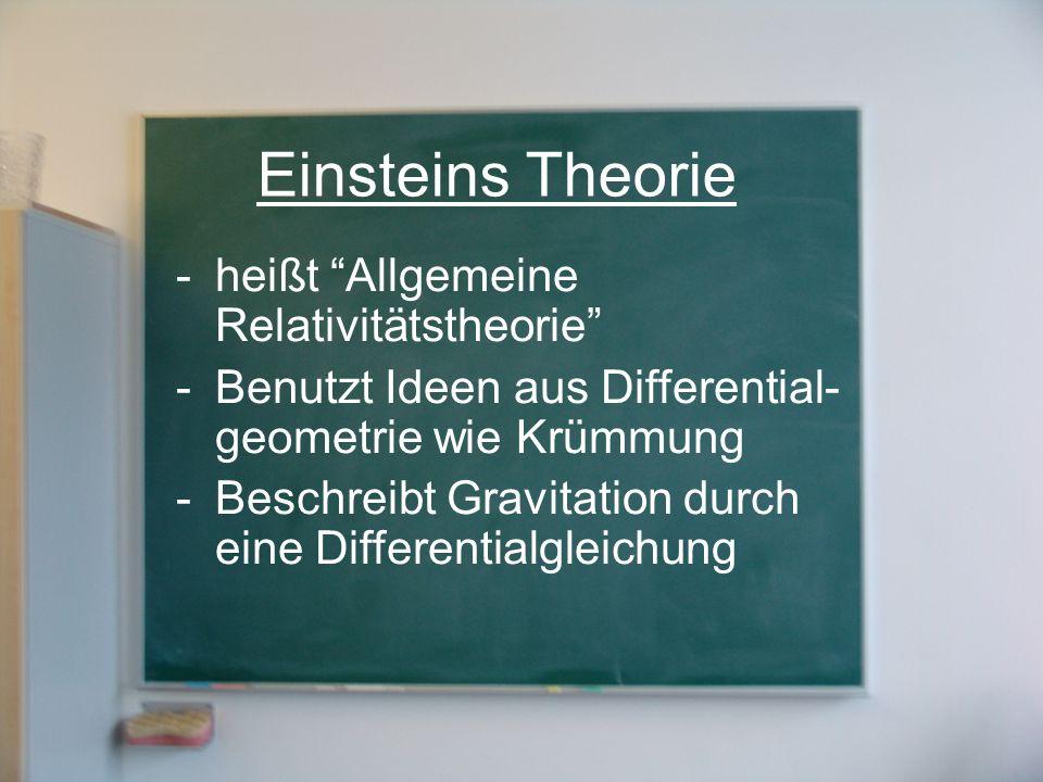 Einsteins Theorie heißt Allgemeine Relativitätstheorie