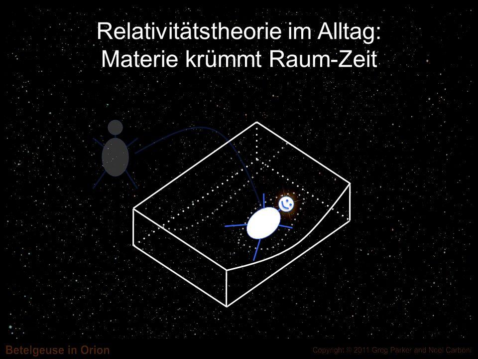 Relativitätstheorie im Alltag: Materie krümmt Raum-Zeit