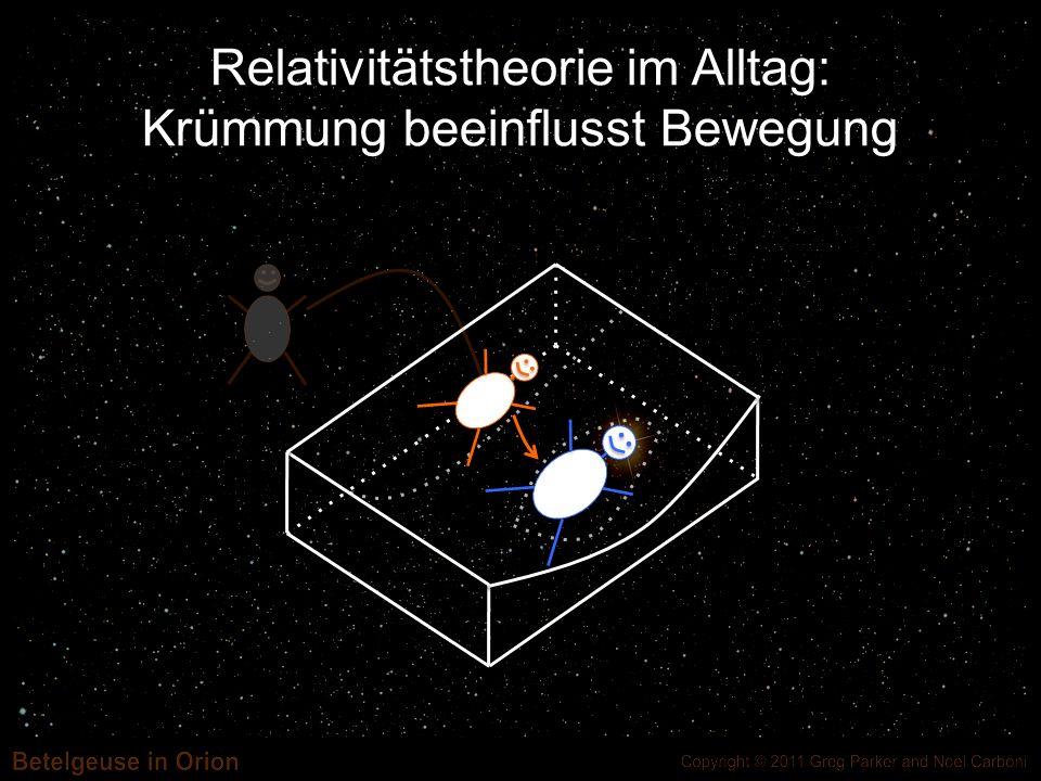 Relativitätstheorie im Alltag: Krümmung beeinflusst Bewegung