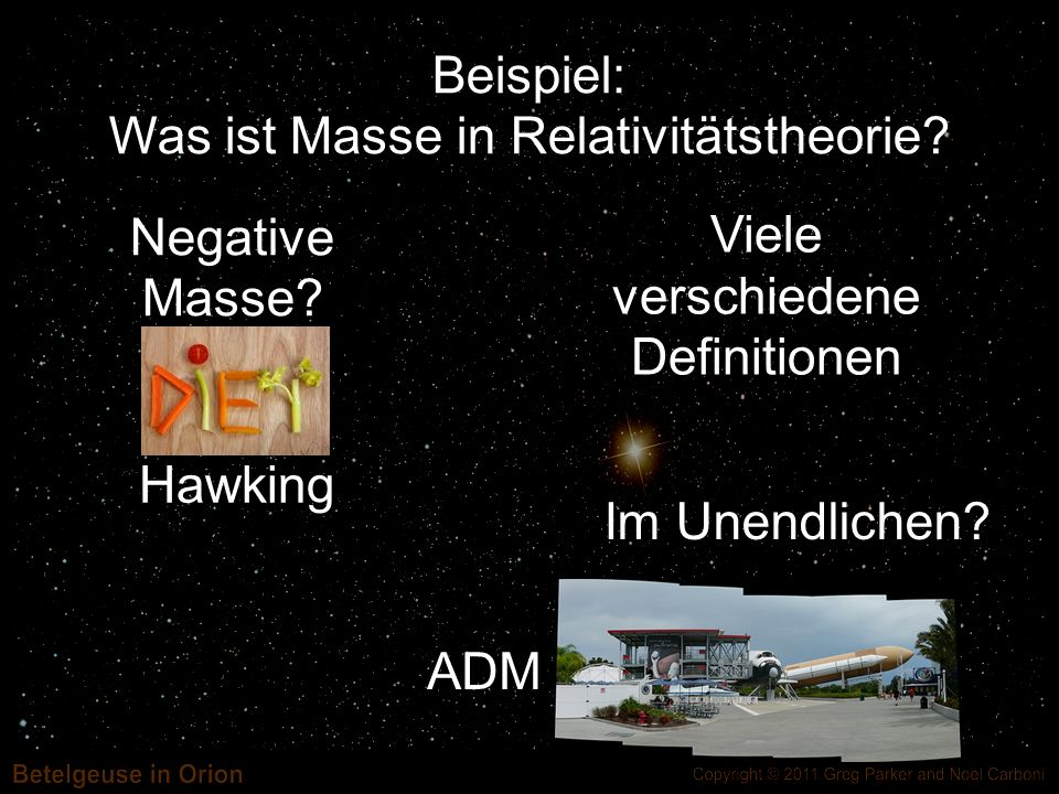 Was ist Masse in Relativitätstheorie