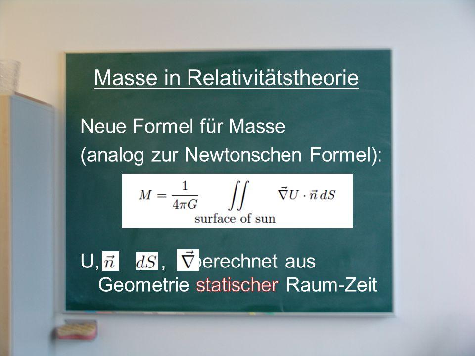 Masse in Relativitätstheorie