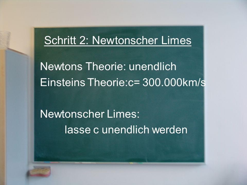 Schritt 2: Newtonscher Limes