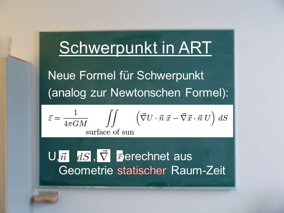 Schwerpunkt in ART Neue Formel für Schwerpunkt