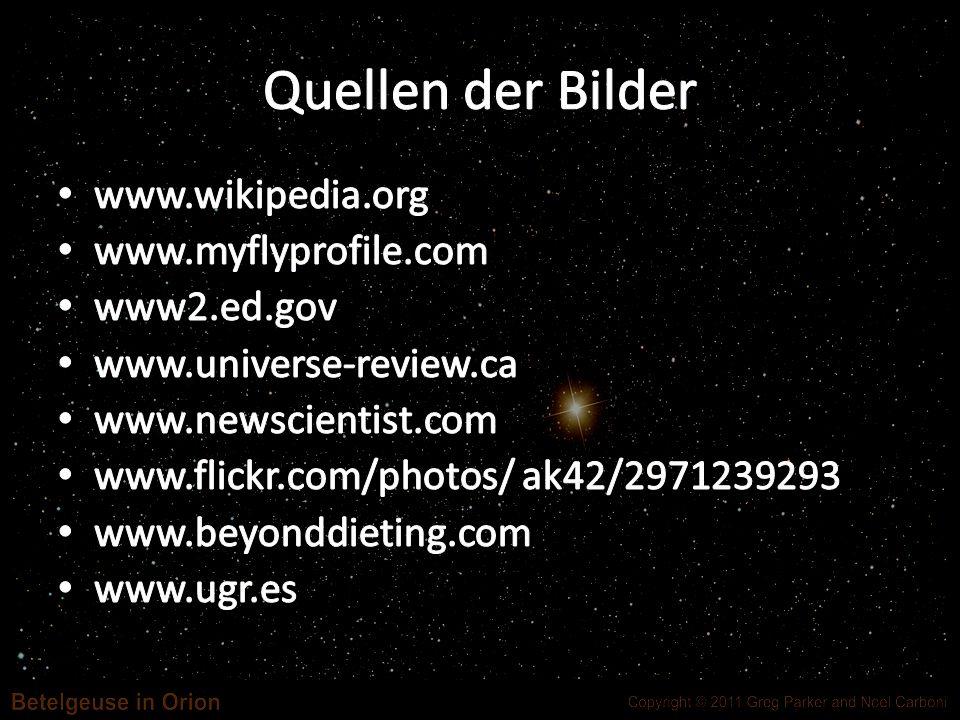 Quellen der Bilder www.wikipedia.org www.myflyprofile.com www2.ed.gov