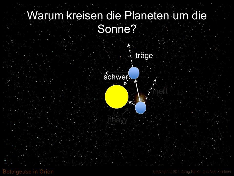 Warum kreisen die Planeten um die Sonne