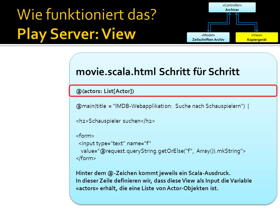 Wie funktioniert das Play Server: View
