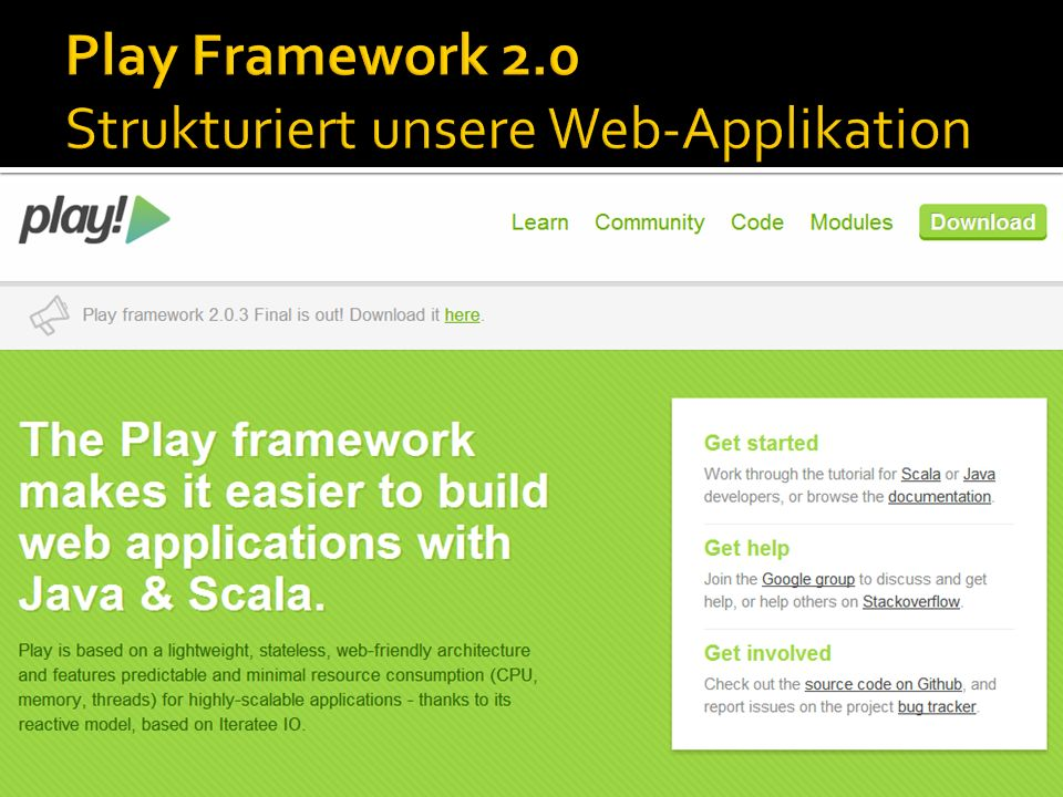 Play Framework 2.0 Strukturiert unsere Web-Applikation