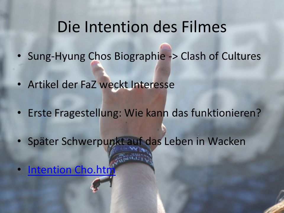 Die Intention des Filmes