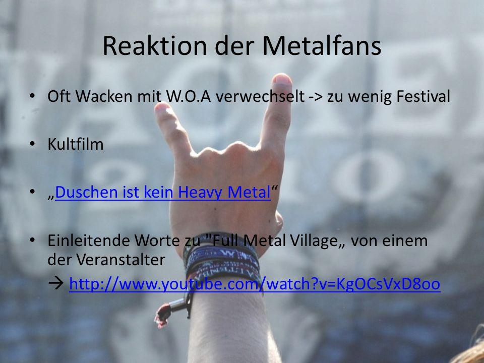Reaktion der Metalfans