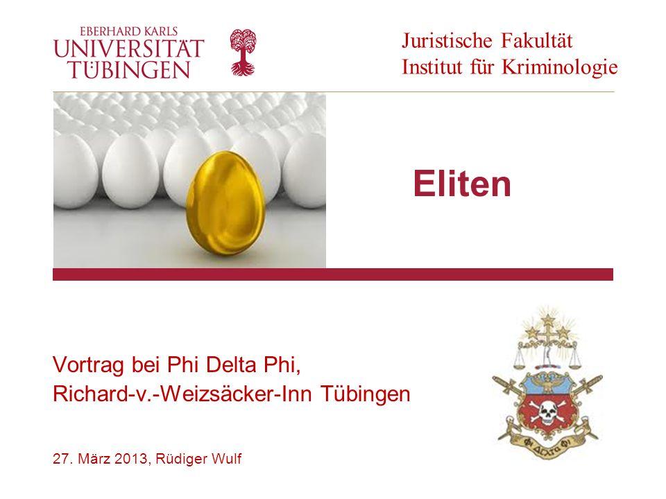 Vortrag bei Phi Delta Phi, Richard-v.-Weizsäcker-Inn Tübingen