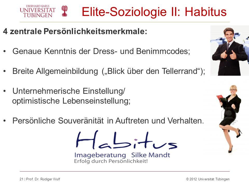 Elite-Soziologie II: Habitus