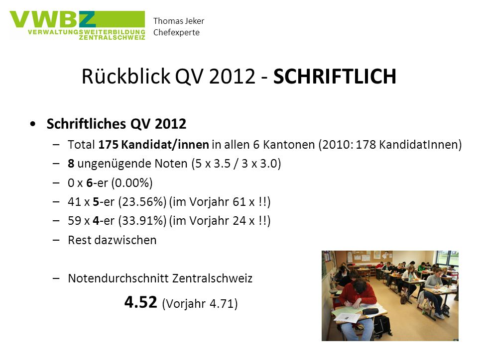Rückblick QV 2012 - SCHRIFTLICH