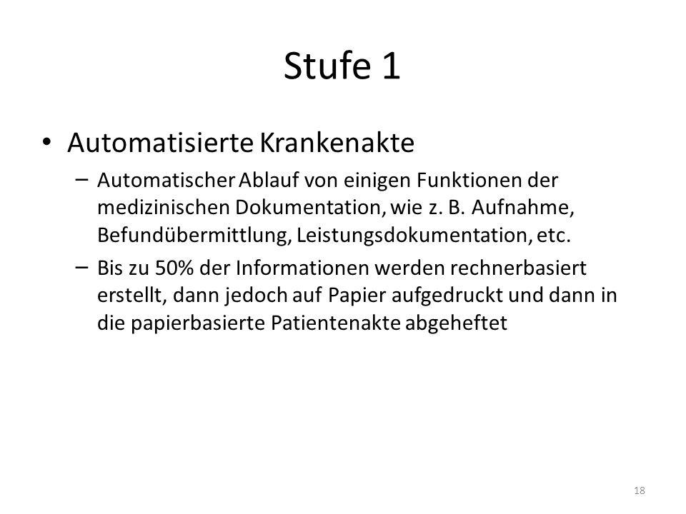 Stufe 1 Automatisierte Krankenakte