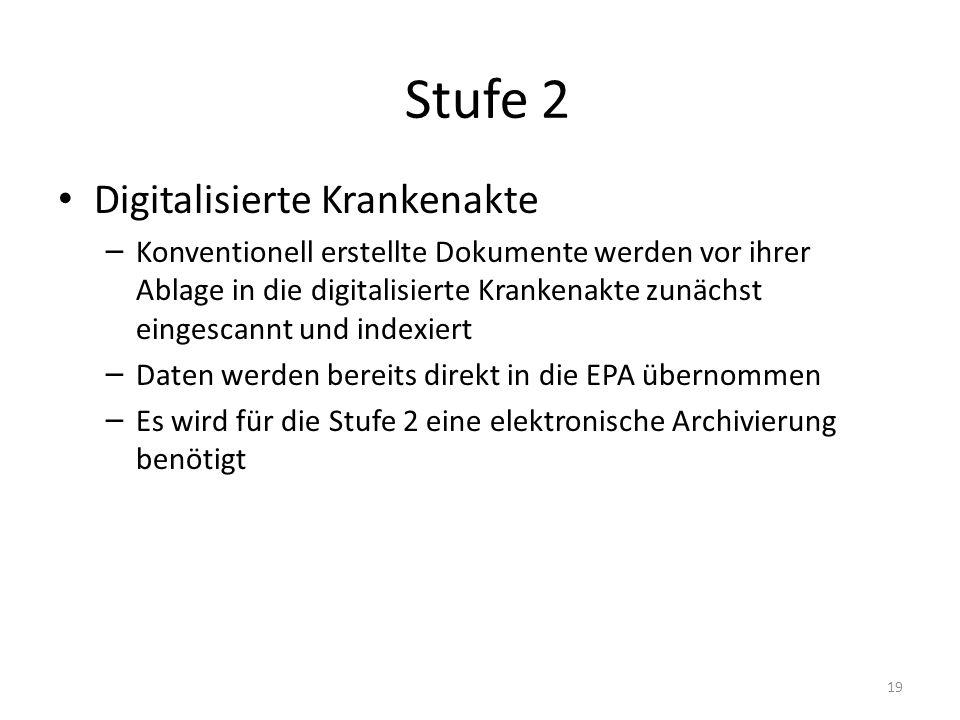 Stufe 2 Digitalisierte Krankenakte